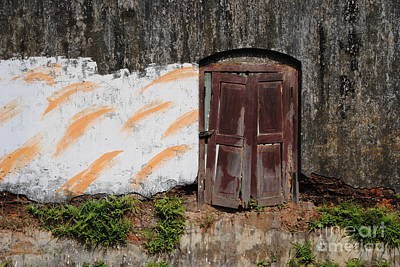 Photograph - Door Study In Kochi by Jacqueline M Lewis