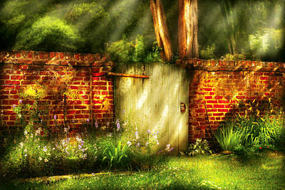 Photograph - Door - The Old Gate by Mike Savad