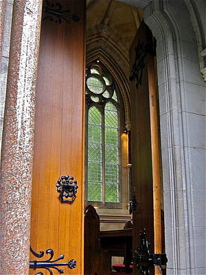 Photograph - Door To Gothic Church by Denise Mazzocco
