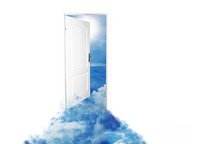 Door Photograph - Door To New World Sky Version by Michal Bednarek