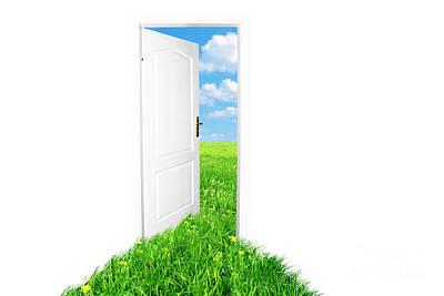 Unreal Photograph - Door To New World. Version 2 by Michal Bednarek