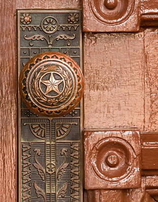 Door To Texas State Capital Art Print by David and Carol Kelly
