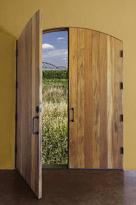 Photograph - Door To The Farm by Karen Stephenson