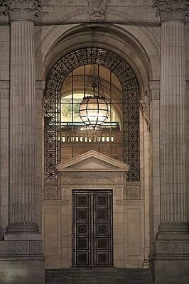 College Avenue Photograph - Door To The Library by Dan Sproul