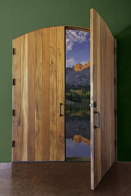 Photograph - Door To The Maroon Bell Mountains by Karen Stephenson