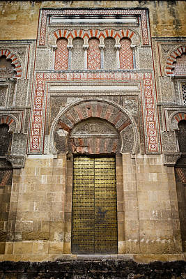 Door To The Mosque Cathedral Of Cordoba Art Print