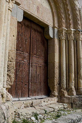 Photograph - Door To The Templar Church by Lorraine Devon Wilke