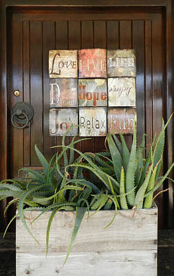 Front View Photograph - Door With A Message by Leana De Villiers