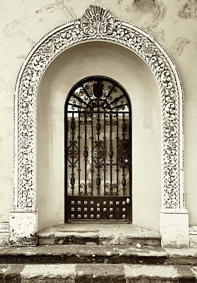 Door With Decorated Arch Art Print