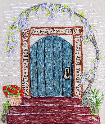 Tapestry - Textile - Door With Many Languages by Stephanie Callsen