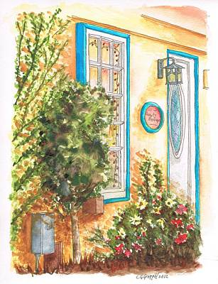 Edificios Painting - Door With Tree In Toluca Lake Ca by Carlos G Groppa