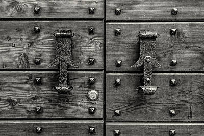 Photograph - Doorknockers And Nails by Roberto Pagani