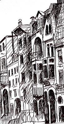 Philadelphia Scene Drawing - Doors And Windows by Deborah Dendler