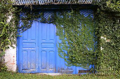 Old Door Photograph - Doors And Windows Minas Gerais State Brazil 5 by Bob Christopher