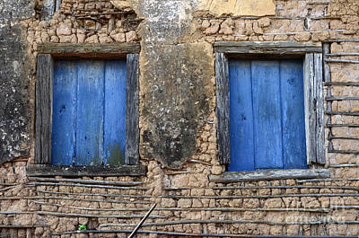 Old Door Photograph - Doors And Windows Minas Gerais State Brazil 1 by Bob Christopher