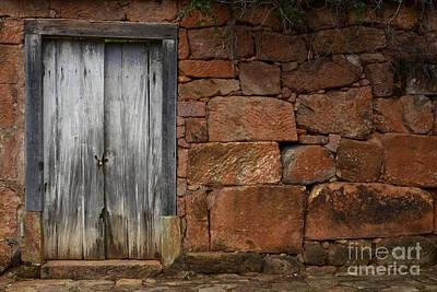 Old Door Photograph - Doors And Windows Minas Gerais State Brazil 3 by Bob Christopher