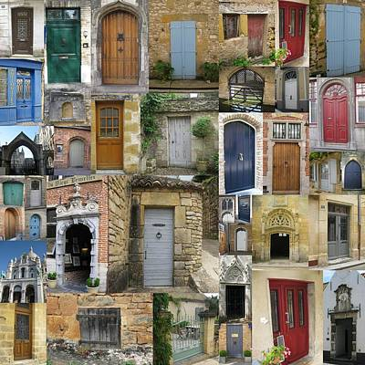 Of Artist Photograph - Doors Collage by Cathy Jacobs