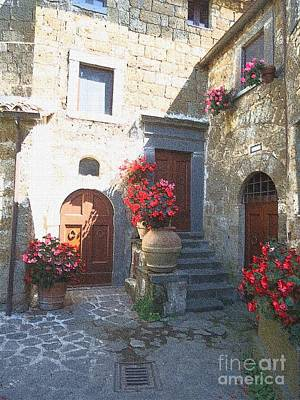Photograph - Doors In Bagnoregio by Barbie Corbett-Newmin