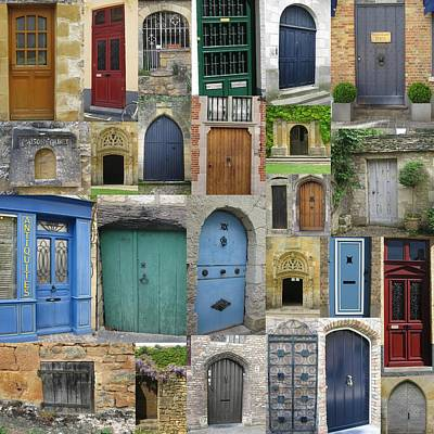 Doors In France And Belgium Print by Cathy Jacobs