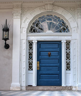 Target Threshold Nature Royalty Free Images - Historic Blue Door Royalty-Free Image by Dale Powell