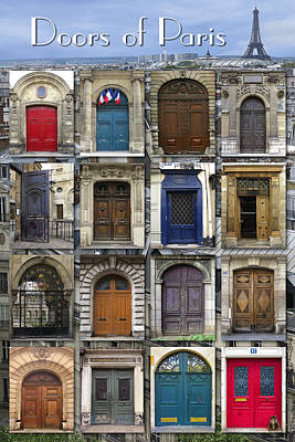 Photograph - Doors Of Paris by Heidi Hermes