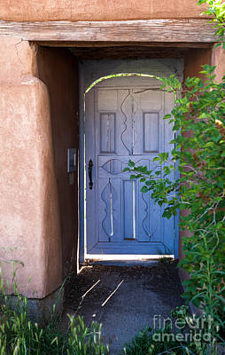 Art Print featuring the photograph Doors Of Santa Fe by Roselynne Broussard
