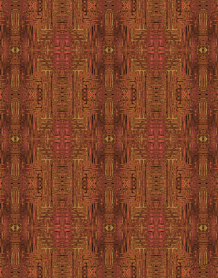 Digital Art - Doors Of Zanzibar Paprika by Judi Suni Hall