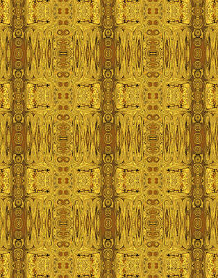 Digital Art - Doors Zanzibar Saffron by Judi Suni Hall