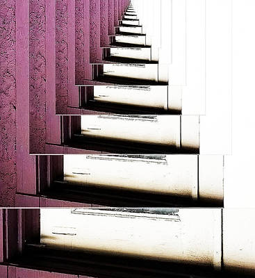 Doorsteps To Nowhere Art Print by Angelika Sauer