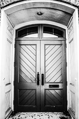 Photograph - Doorway At Morris Avenue - Black And White by Shelby  Young