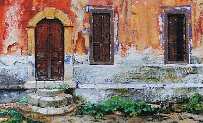 Doorway, Corfu, 2006 Oil On Paper Art Print by Trevor Neal