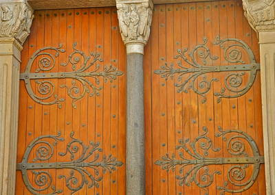 Photograph - Doorway Detail At St. Tropheme Church In Arles by Kirsten Giving