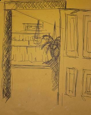 Drawing - Doorway by Erika Chamberlin