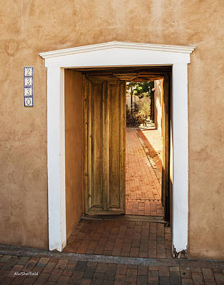 Photograph - Doorway - Mesilla New Mexico by Allen Sheffield
