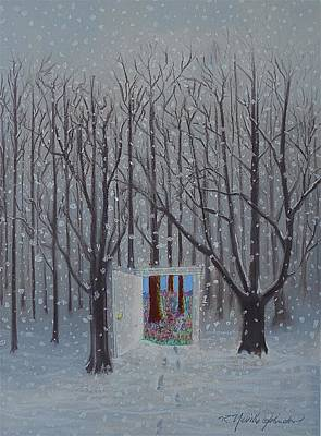 The Trees Mixed Media - Doorway To Springtime by R Neville Johnston