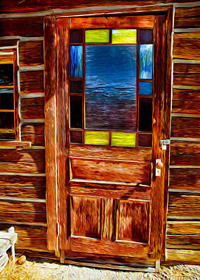 Glass Painting - Doorway To The Past by Omaste Witkowski