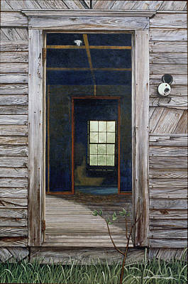Egg Tempera Painting - Doorway To The Past by Peter Muzyka