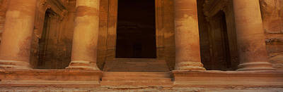 Treasury Photograph - Doorway To The Treasury, Wadi Musa by Panoramic Images