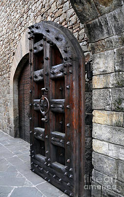 Photograph - Doorways Of Castello Di Amorosa by Gina Savage