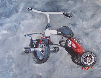 Tricycle Painting - Dopers Suck by Claudia Goodell