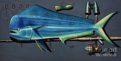 Painting - Dorado 3d by Johnny Widmer