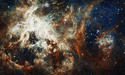 Outer Space Abstract Painting - Doradus Nebula by Celestial Images
