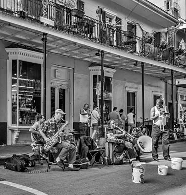 French Quarter Photograph - Doreen's Jazz New Orleans 2 Bw by Steve Harrington