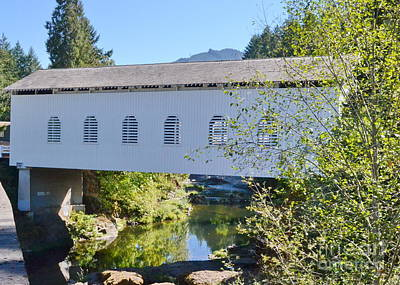 Pyrography - Dorena Covered Bridge by Ansel Price