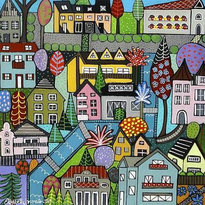 Painting - Dorf Im Fruhjahr by Elizabeth Langreiter