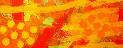 Contemporary Abstract Fruit Painting - Dorfgarten by John  Nolan