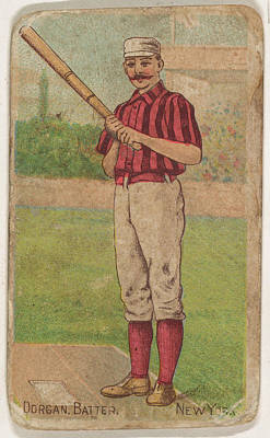 Baseball Drawings Drawings Drawing - Dorgan, Batter, New York, From The Gold by D. Buchner & Co., New York