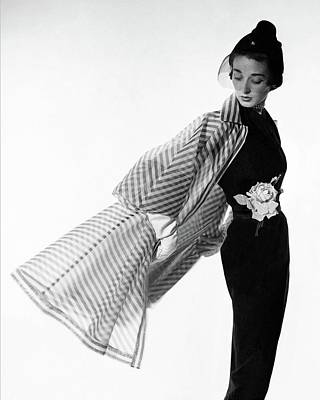 Studio Shot Photograph - Dorian Leigh Wearing A Bonnie Cashin Dress by Cecil Beaton