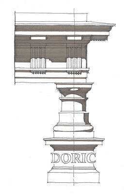 Drawing - Doric Order by Calvin Durham