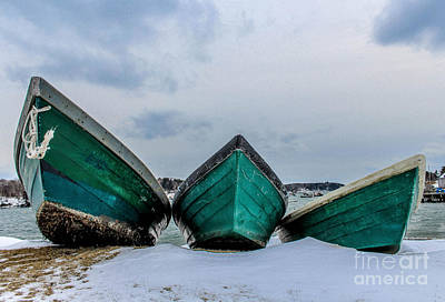 Surfing Maine Photograph - Dories On Vacation by Joe Faragalli